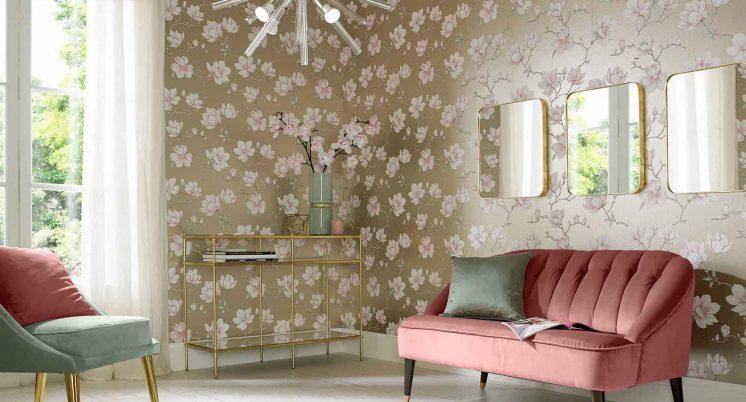 wallpaper di ruang tamu