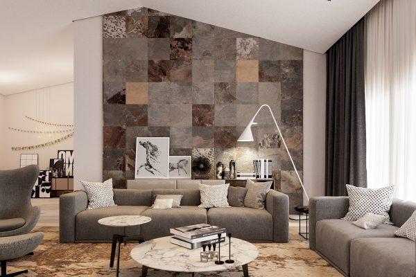 ide dekorasi dinding dengan keramik