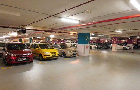 tempat parkir mall